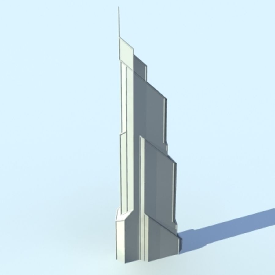 Skyscraper 005 royalty-free 3d model - Preview no. 5