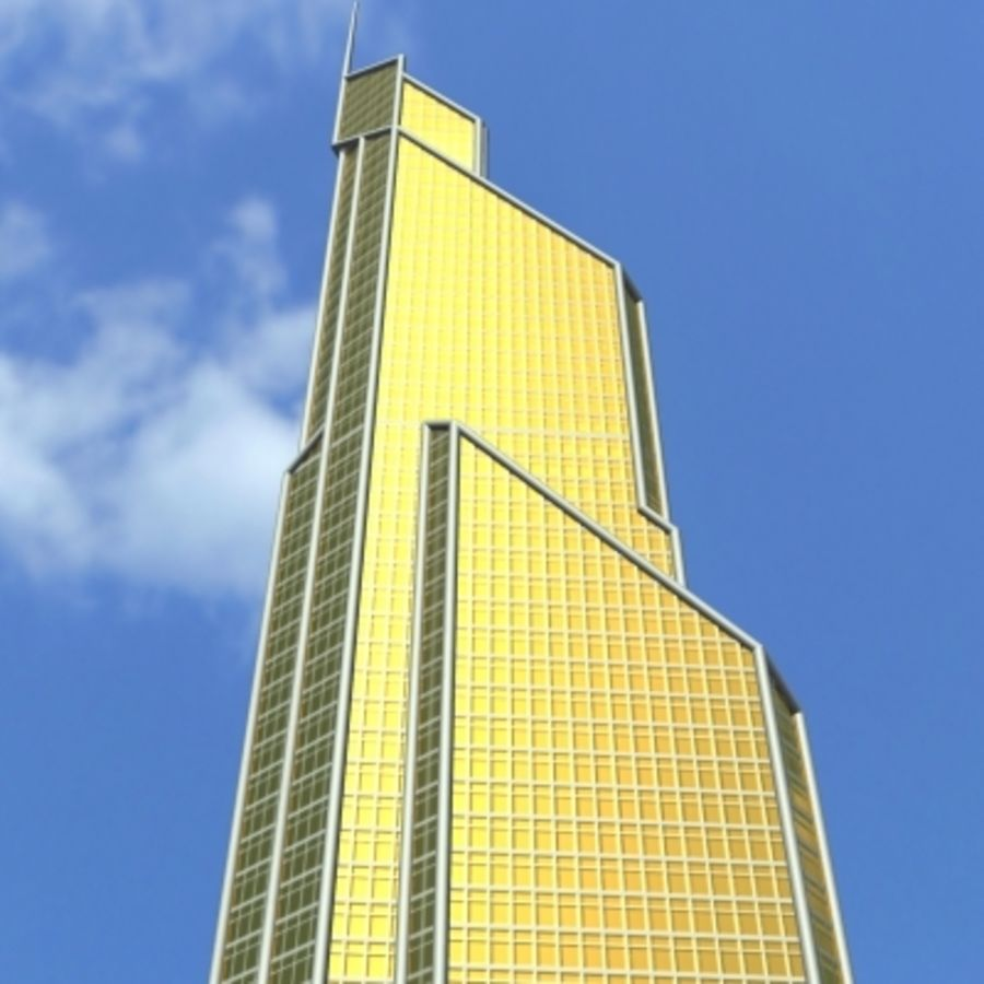 Skyscraper 005 royalty-free 3d model - Preview no. 1