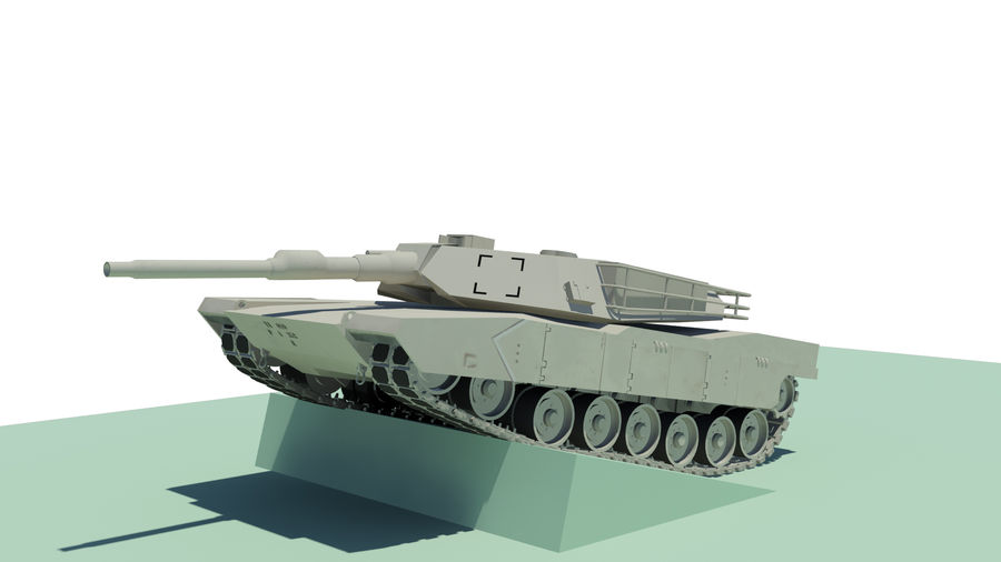 Abram tank Rigged royalty-free 3d model - Preview no. 4