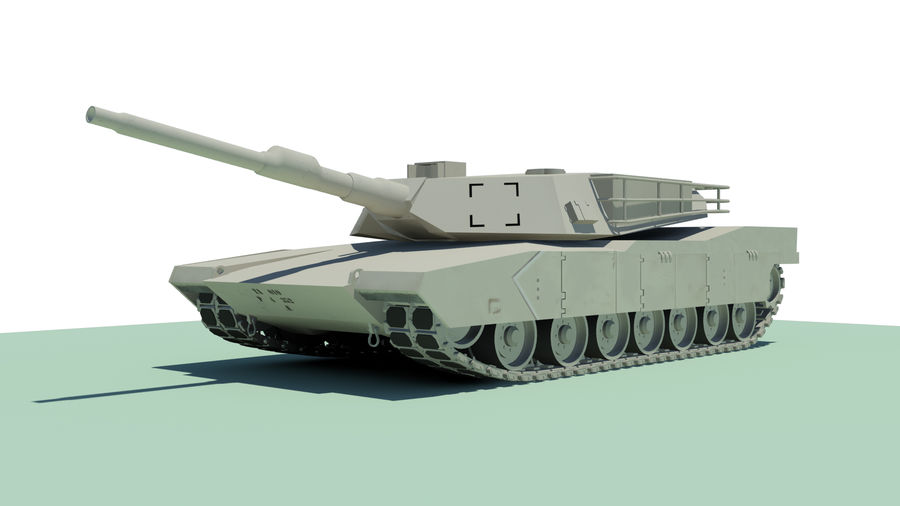 Abram tank Rigged royalty-free 3d model - Preview no. 1
