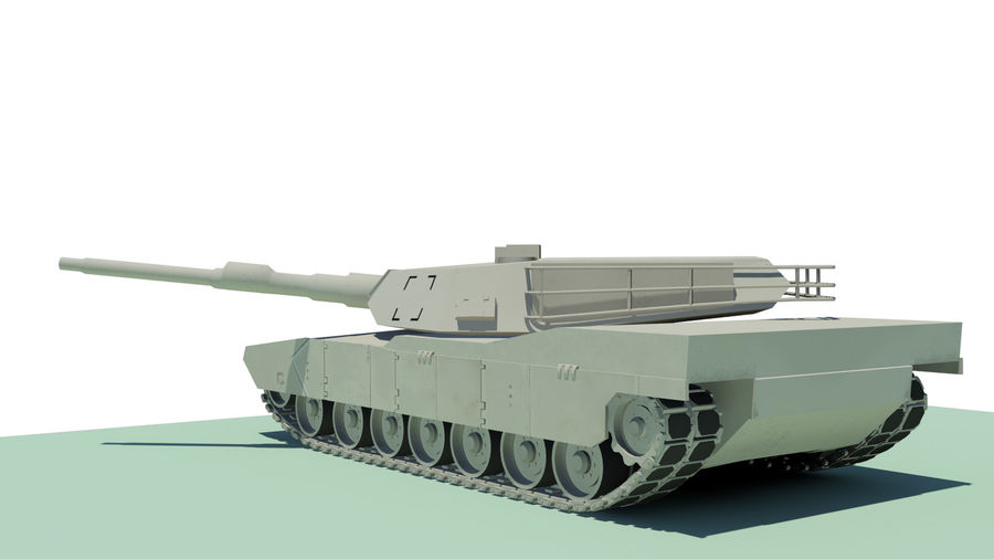 Abram tank Rigged royalty-free 3d model - Preview no. 2