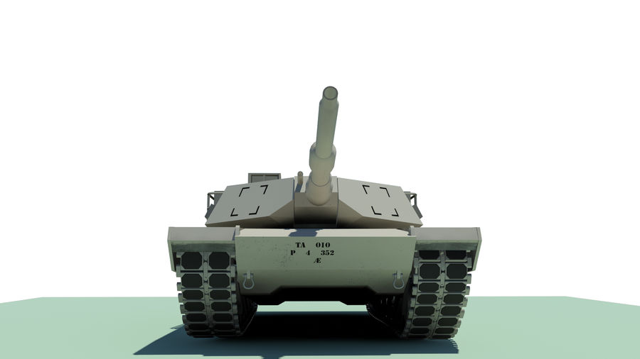 Abram tank Rigged royalty-free 3d model - Preview no. 3