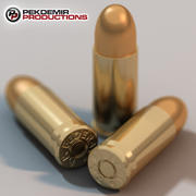 9mm Bullet with Shell 3d model