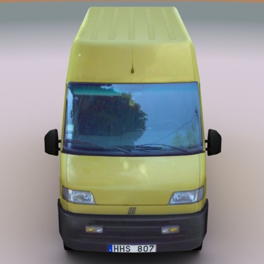 2008 Fiat Ducato royalty-free 3d model - Preview no. 6