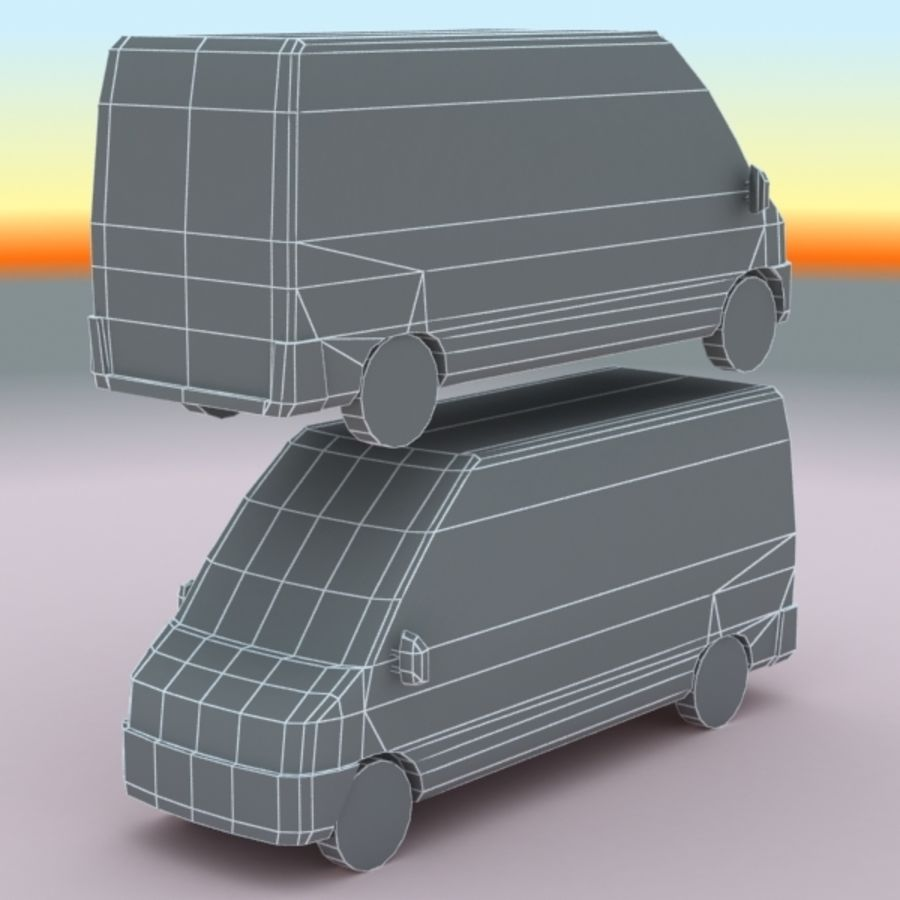 2008 Fiat Ducato royalty-free 3d model - Preview no. 9