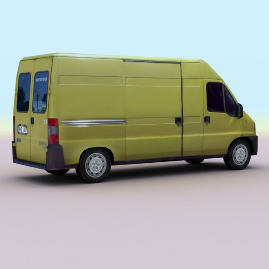 2008 Fiat Ducato royalty-free 3d model - Preview no. 2