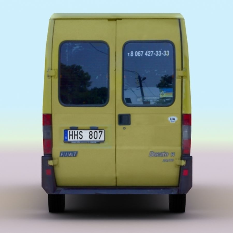 2008 Fiat Ducato royalty-free 3d model - Preview no. 7