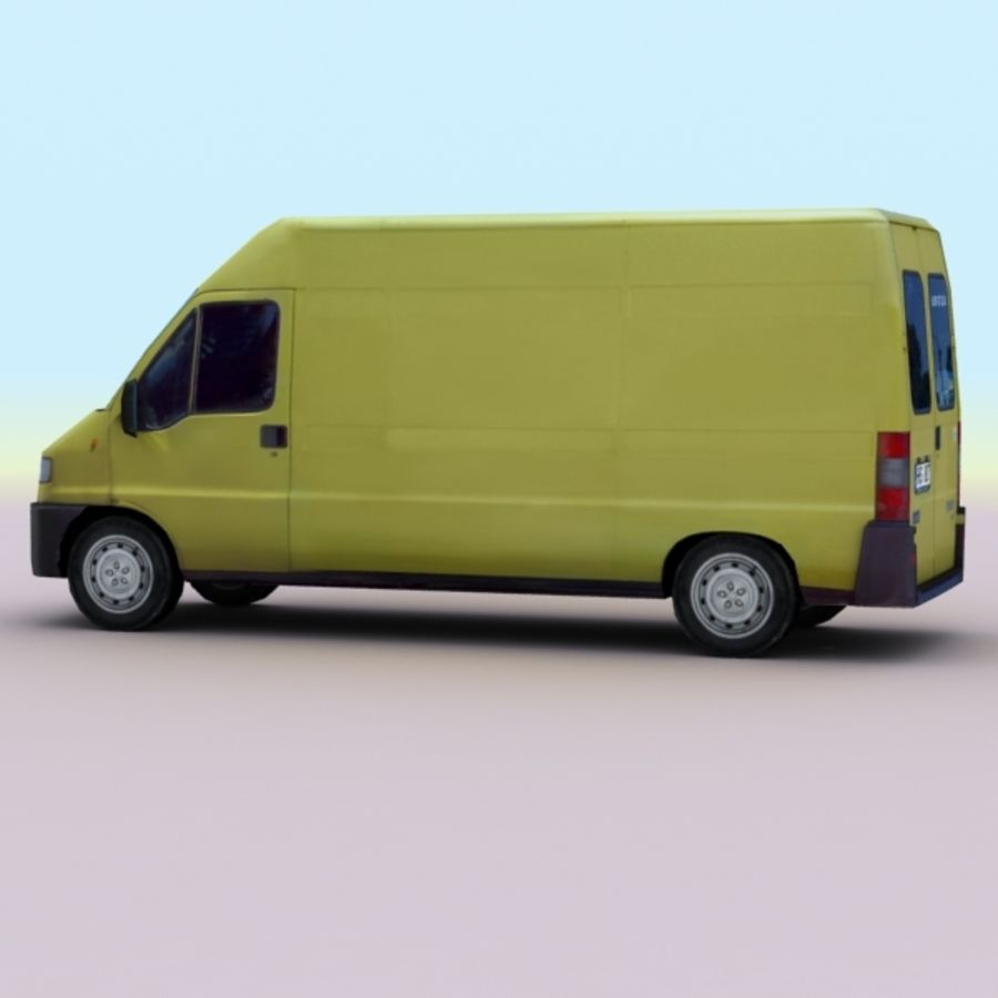 2008 Fiat Ducato royalty-free 3d model - Preview no. 4