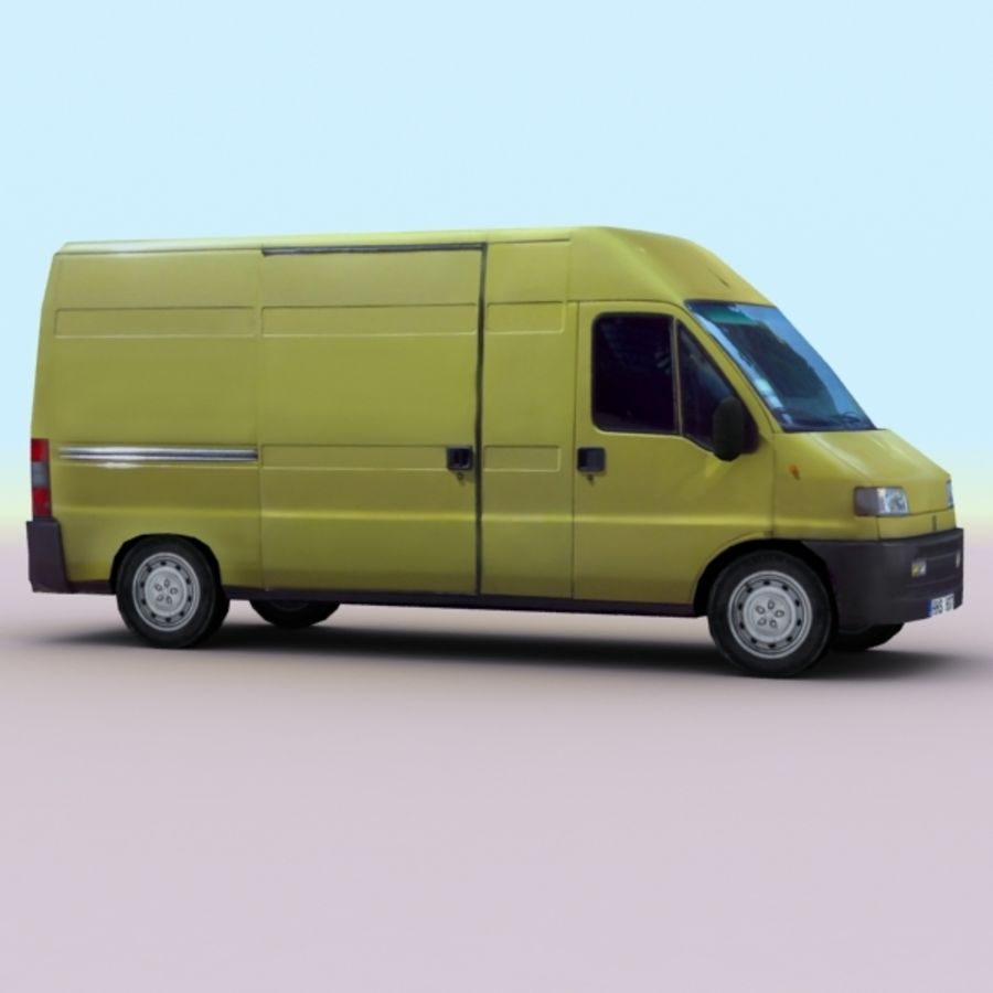 2008 Fiat Ducato royalty-free 3d model - Preview no. 5