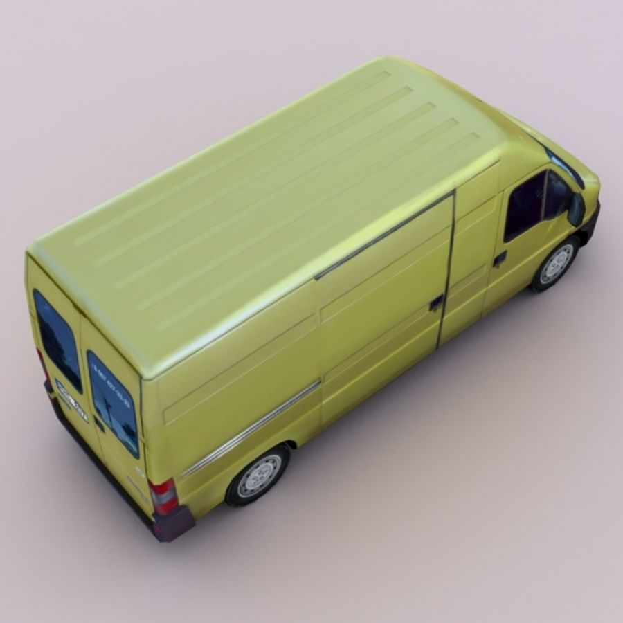 2008 Fiat Ducato royalty-free 3d model - Preview no. 3