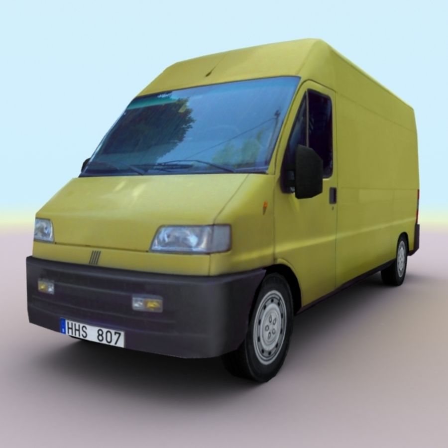 2008 Fiat Ducato royalty-free 3d model - Preview no. 1