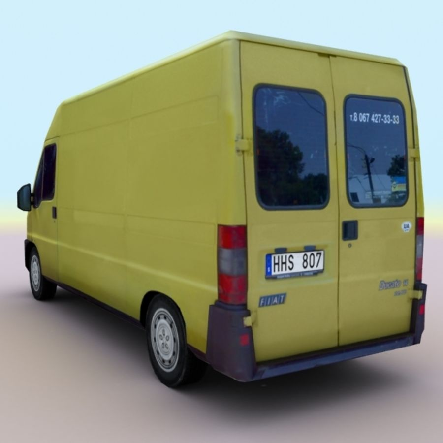 2008 Fiat Ducato royalty-free 3d model - Preview no. 8
