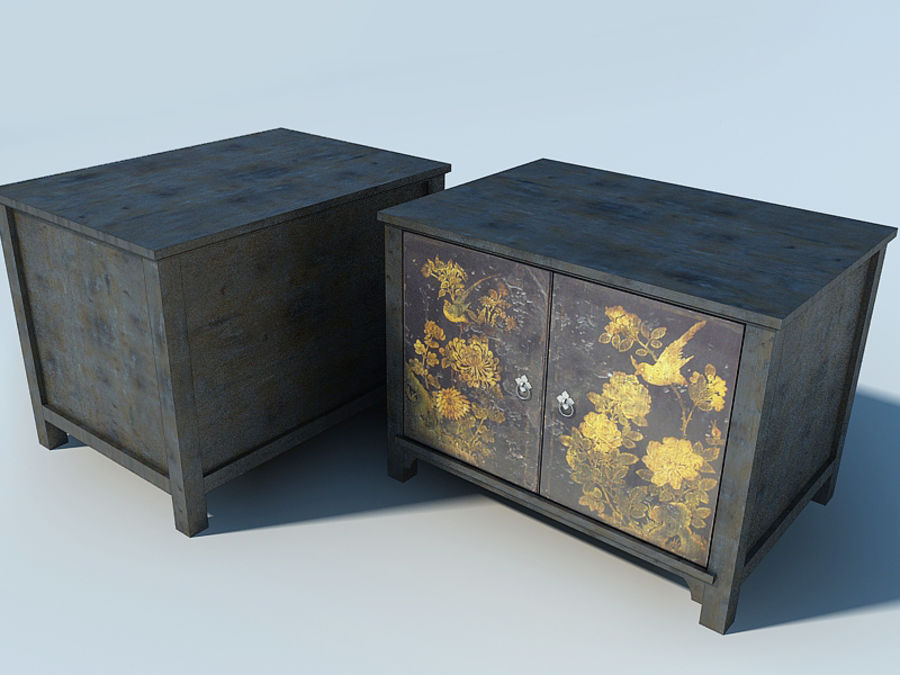 JAPANESE FURNITURE CABINET royalty-free 3d model - Preview no. 3