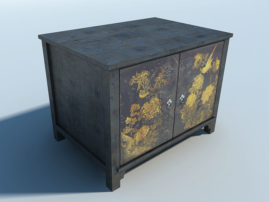 JAPANESE FURNITURE CABINET royalty-free 3d model - Preview no. 1