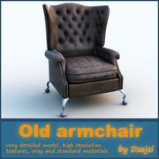 Старое кресло 3d model