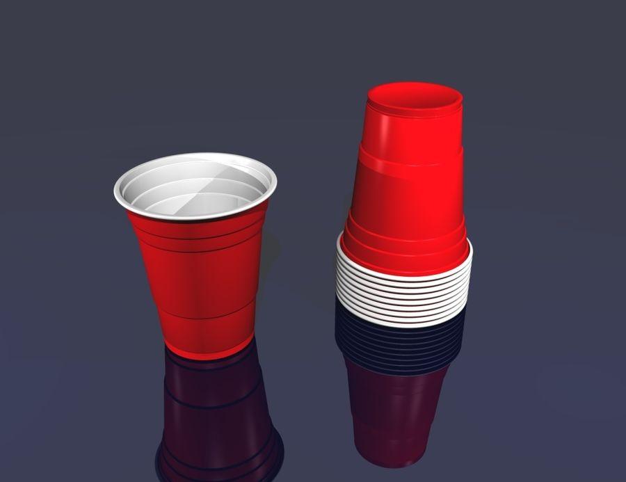Plastik parti içki bardağı royalty-free 3d model - Preview no. 2
