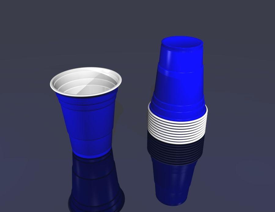 Plastik parti içki bardağı royalty-free 3d model - Preview no. 1