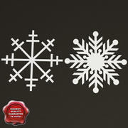 Decoration Snowflakes 3d model