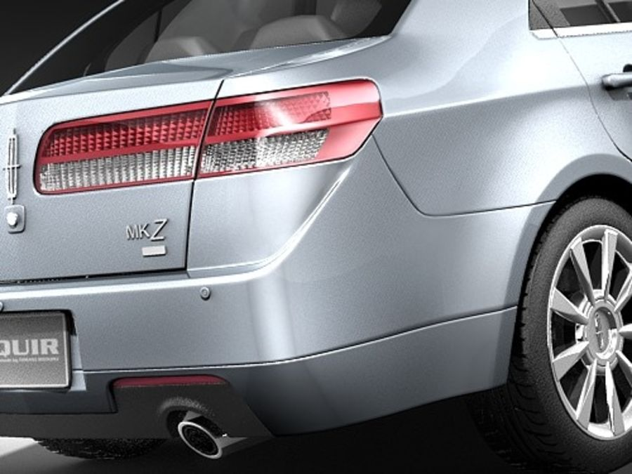 Lincoln MKZ royalty-free 3d model - Preview no. 6