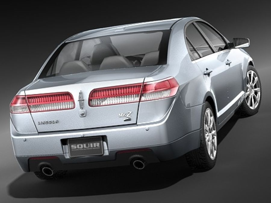 Lincoln MKZ royalty-free 3d model - Preview no. 8