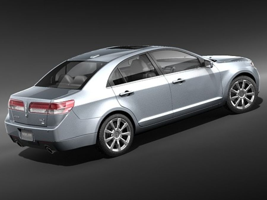 Lincoln MKZ royalty-free 3d model - Preview no. 7