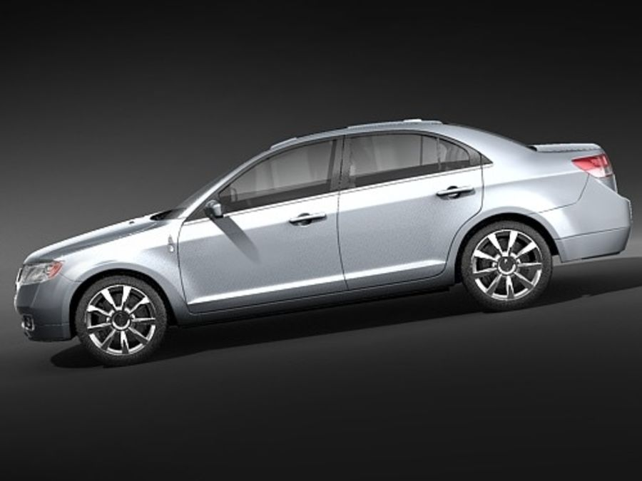 Lincoln MKZ royalty-free 3d model - Preview no. 9
