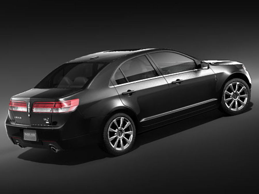 Lincoln MKZ royalty-free 3d model - Preview no. 3