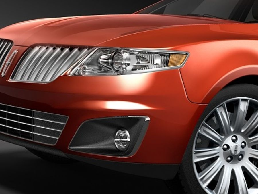 Lincoln Mks 2008-2010 royalty-free 3d model - Preview no. 3