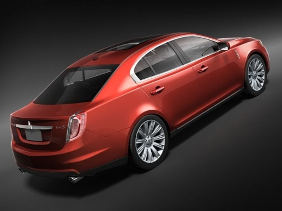 Lincoln Mks 2008-2010 royalty-free 3d model - Preview no. 5