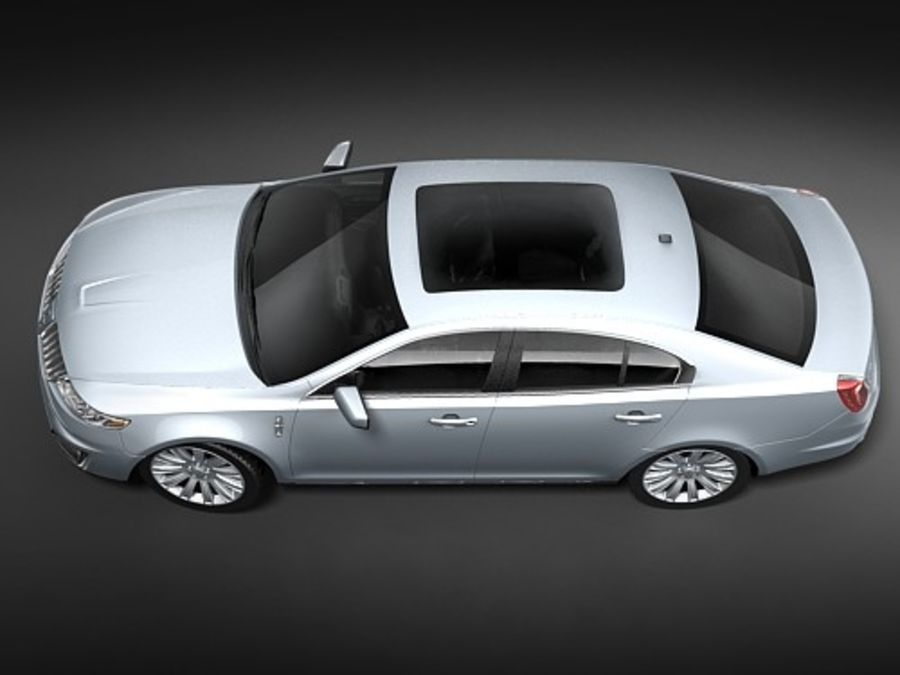 Lincoln Mks 2008-2010 royalty-free 3d model - Preview no. 7