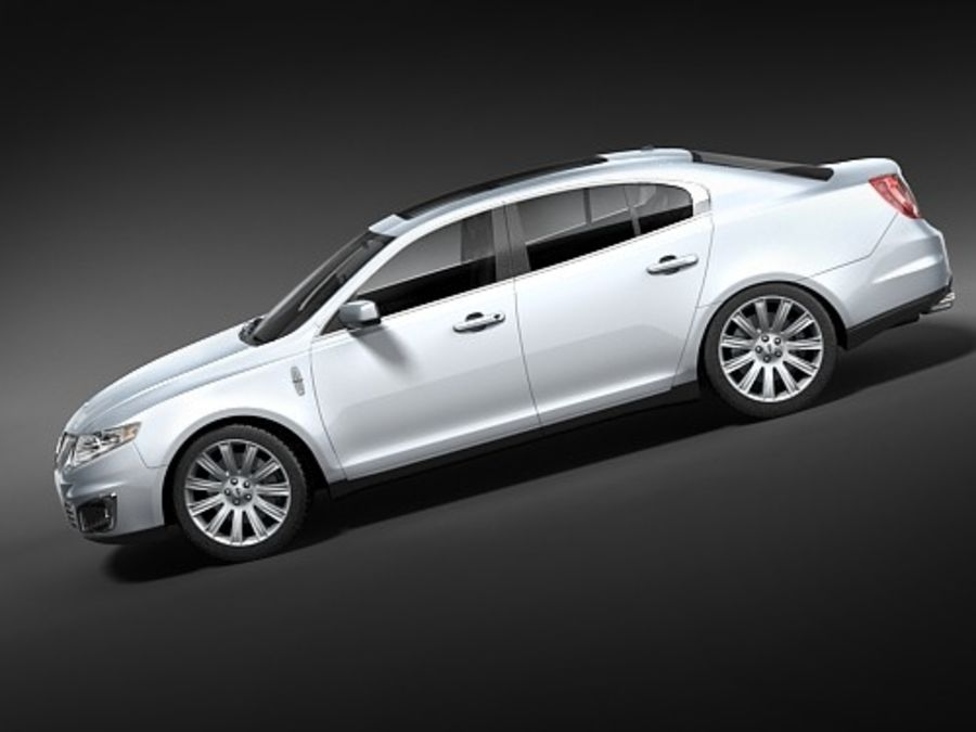 Lincoln Mks 2008-2010 royalty-free 3d model - Preview no. 8