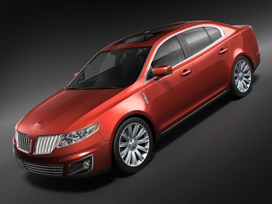 Lincoln Mks 2008-2010 royalty-free 3d model - Preview no. 1