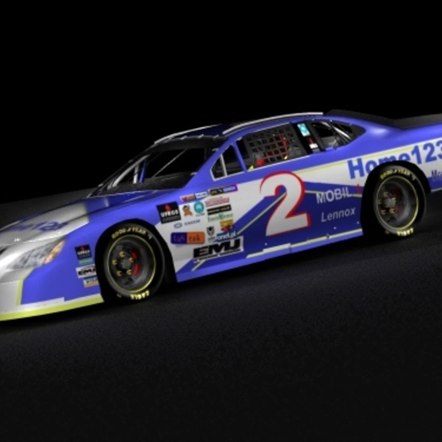 Nascar 2007 Dodge Charger royalty-free 3d model - Preview no. 5