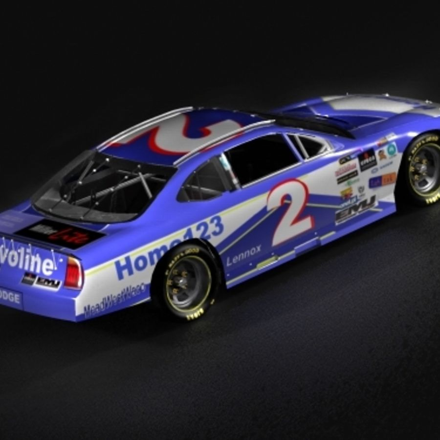 Nascar 2007 Dodge Charger royalty-free 3d model - Preview no. 3