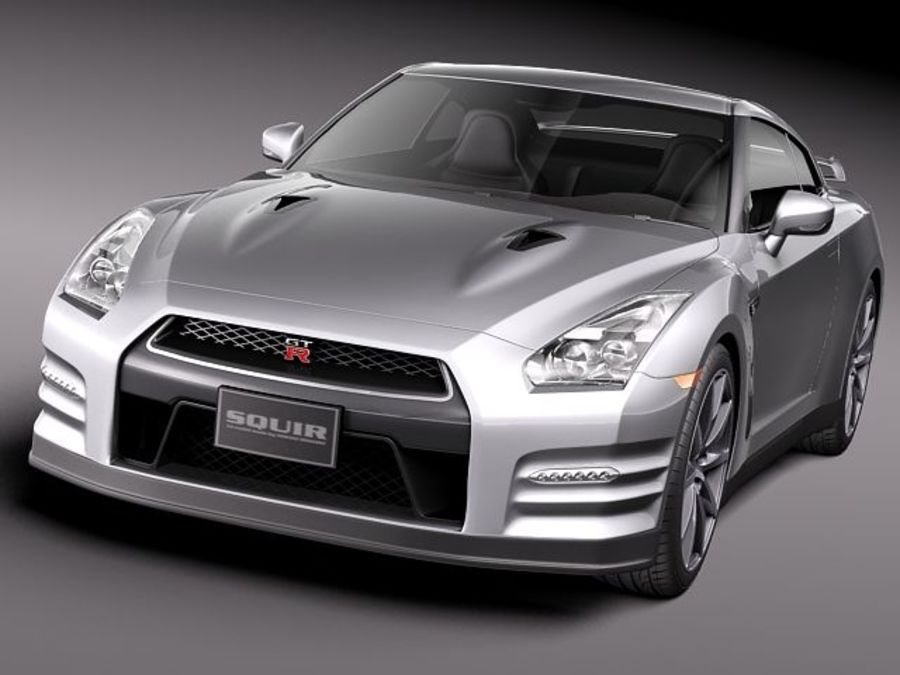 Nissan GT-R 2011 royalty-free 3d model - Preview no. 2