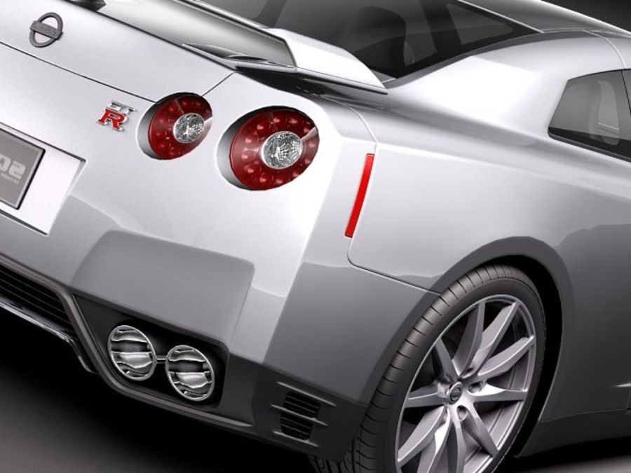 Nissan GT-R 2011 royalty-free 3d model - Preview no. 4