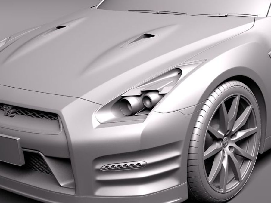 Nissan GT-R 2011 royalty-free 3d model - Preview no. 10