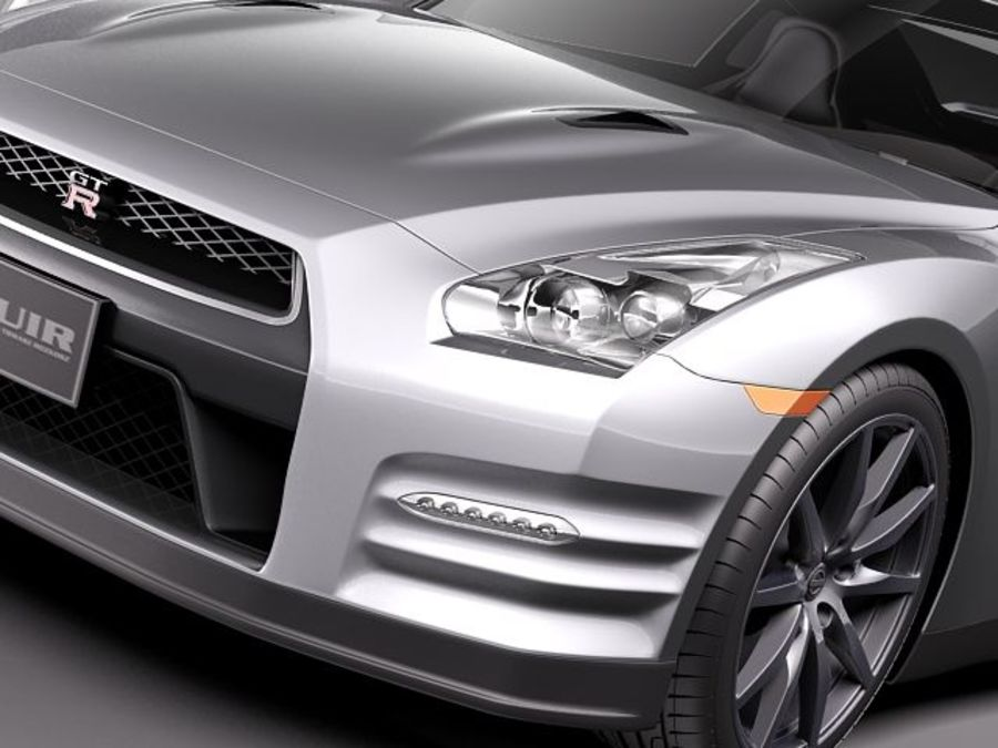 Nissan GT-R 2011 royalty-free 3d model - Preview no. 3
