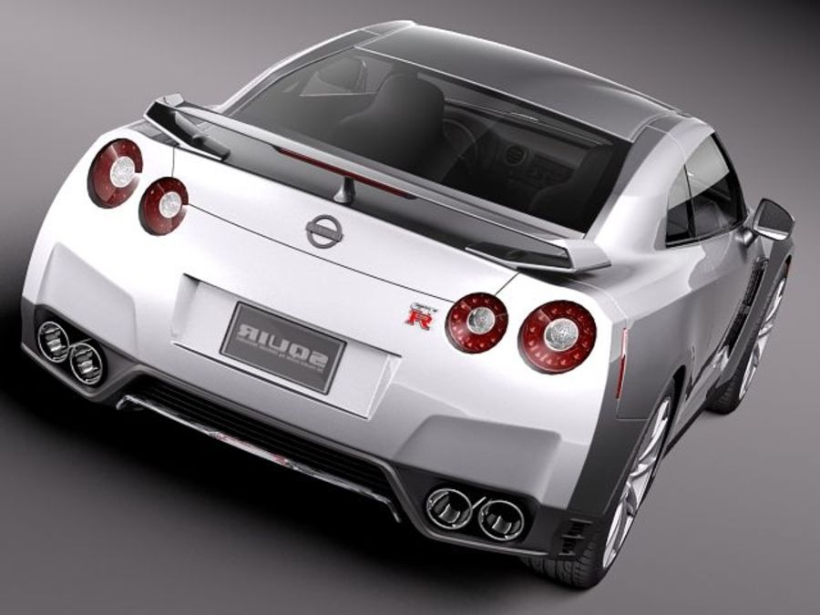 Nissan GT-R 2011 royalty-free 3d model - Preview no. 6
