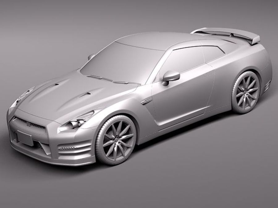 Nissan GT-R 2011 royalty-free 3d model - Preview no. 9