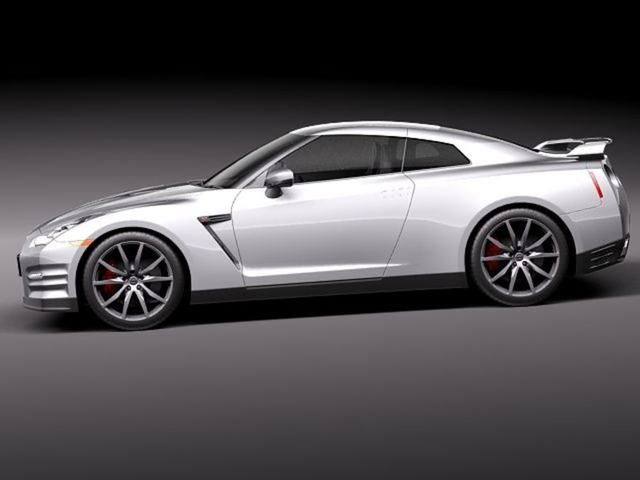 Nissan GT-R 2011 royalty-free 3d model - Preview no. 7