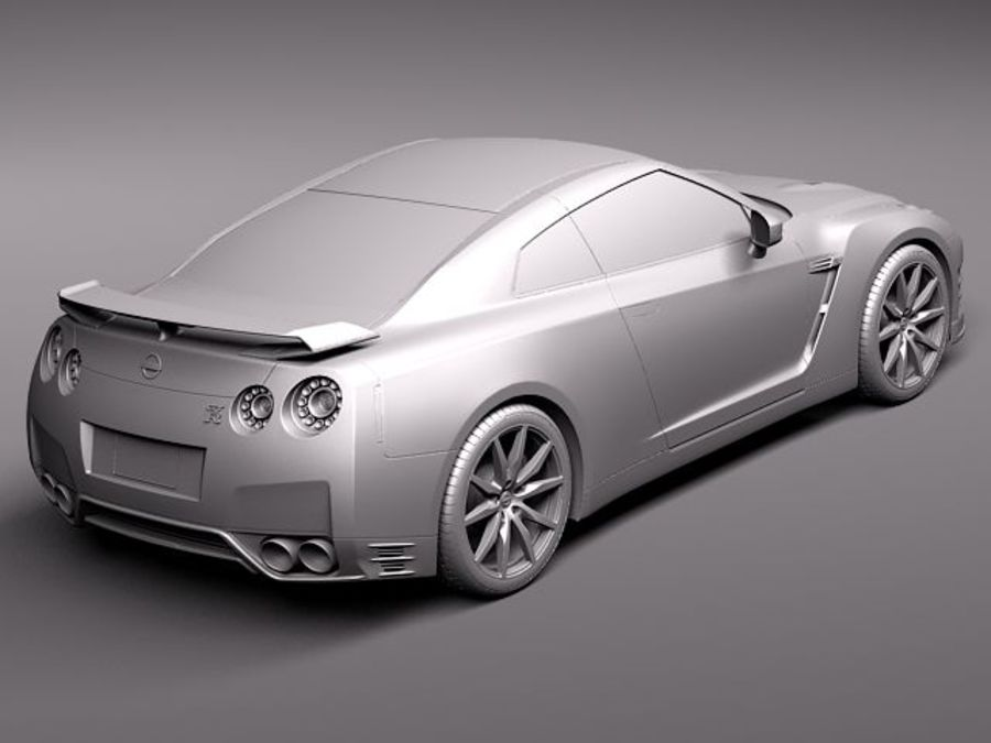 Nissan GT-R 2011 royalty-free 3d model - Preview no. 12