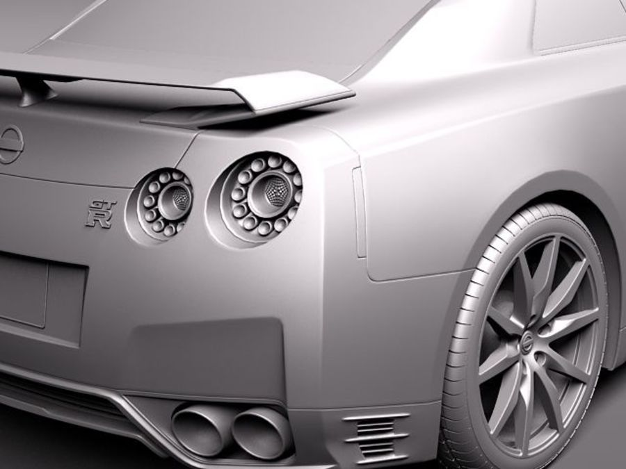 Nissan GT-R 2011 royalty-free 3d model - Preview no. 11