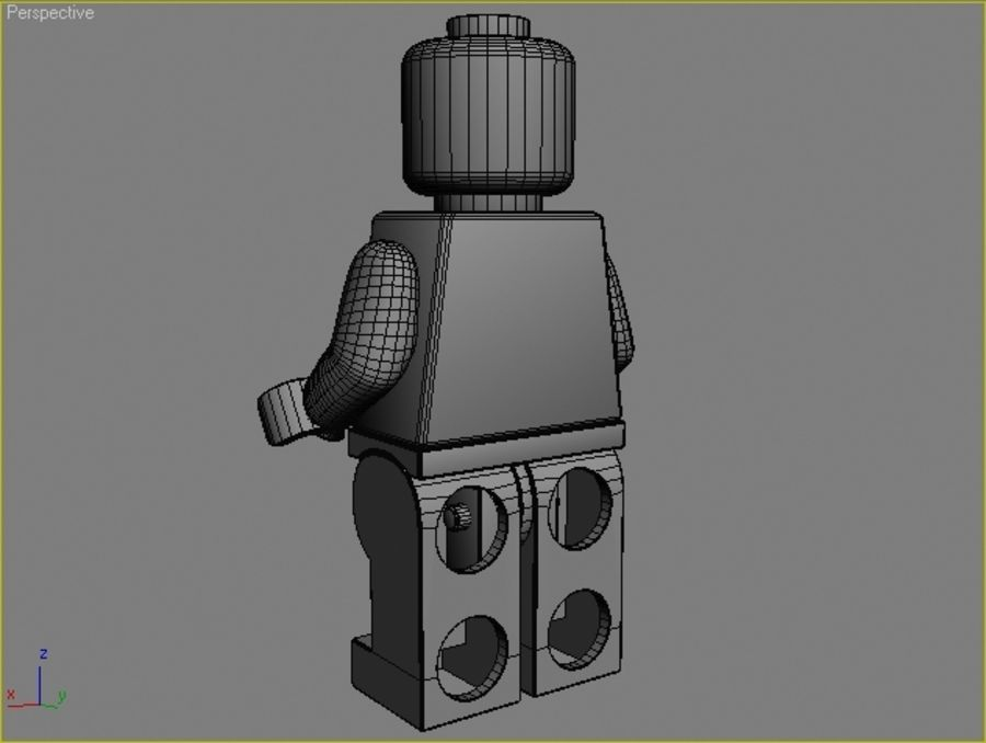 Lego karakteri - Hint royalty-free 3d model - Preview no. 6