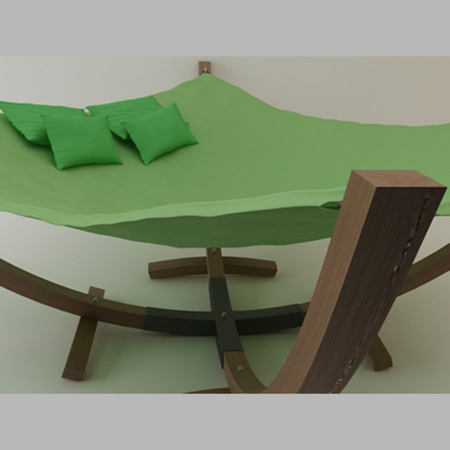 Hammock Bed royalty-free 3d model - Preview no. 3