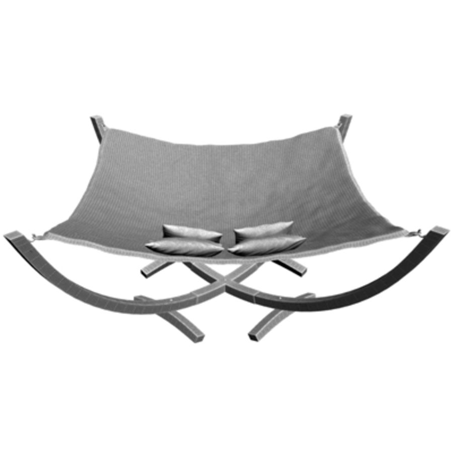 Hammock Bed royalty-free 3d model - Preview no. 6