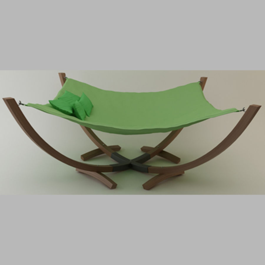 Hammock Bed royalty-free 3d model - Preview no. 2