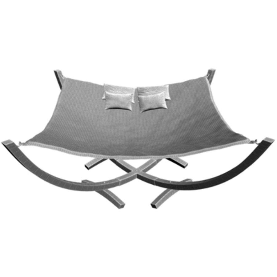 Hammock Bed royalty-free 3d model - Preview no. 5