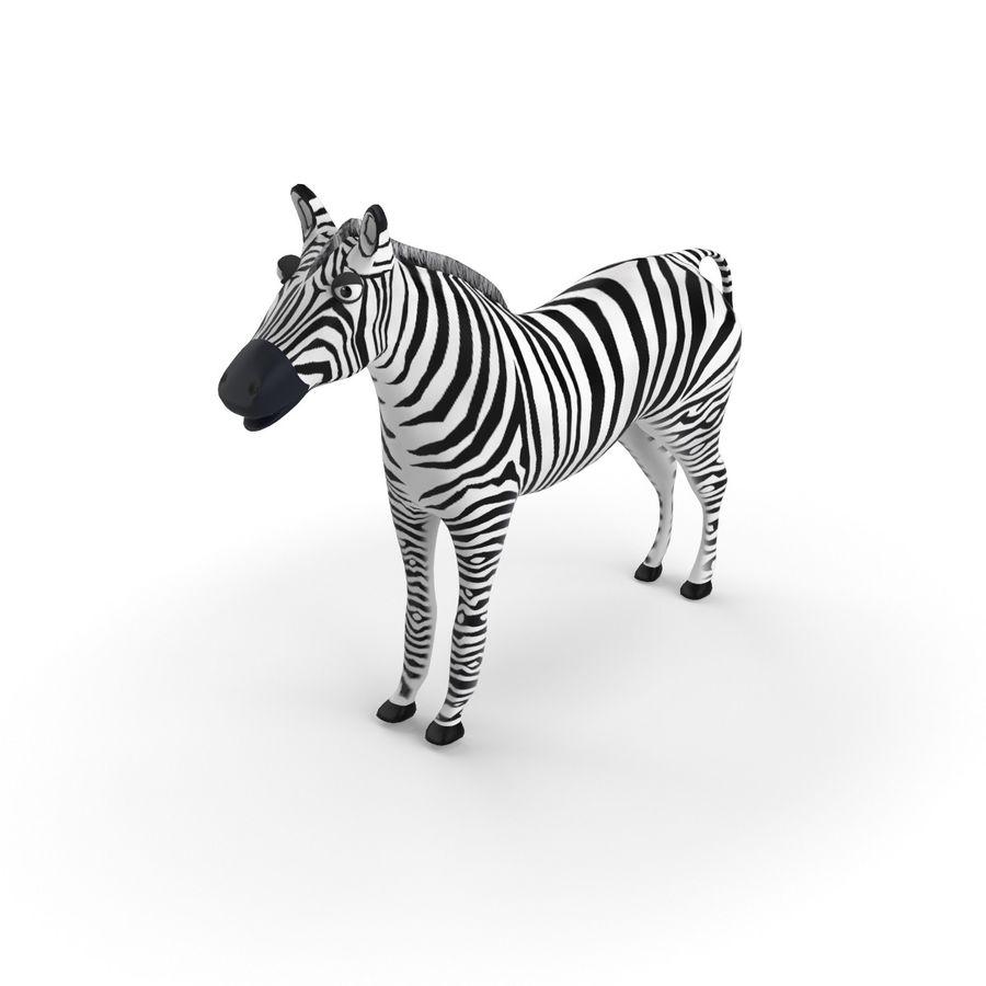 Zebra dei cartoni animati sbarazzati modello 3d $49 .max .3ds