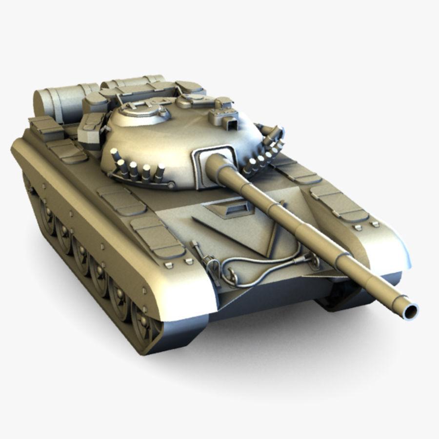 T72 Tank royalty-free 3d model - Preview no. 6